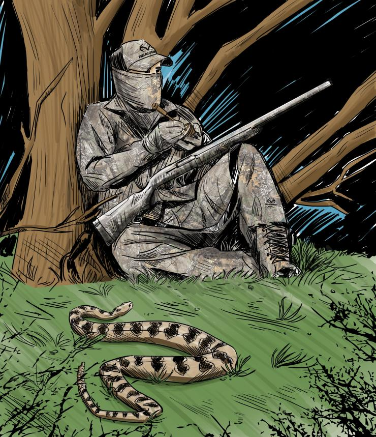 Ever call in a rattlesnake while turkey hunting? (Ryan Orndorff illustration)