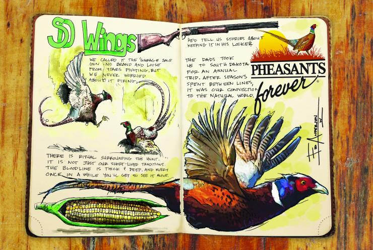 Take a look at artist Ed Anderson's hunting journal. (© Ed Anderson illustration)