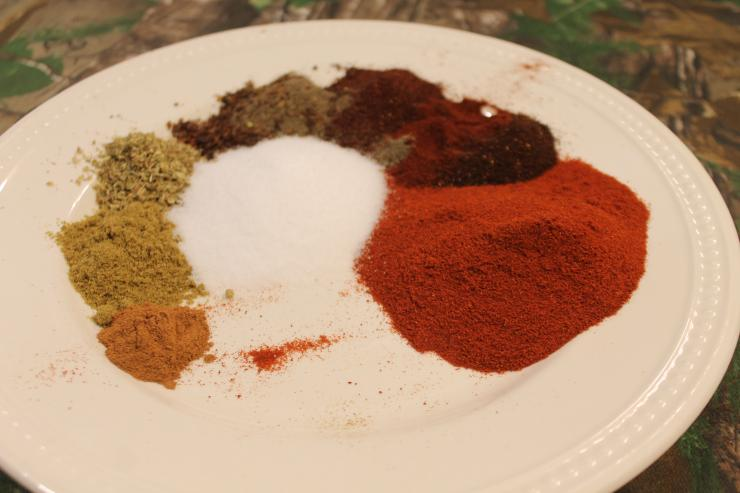 The spice blend for chorizo sausage.