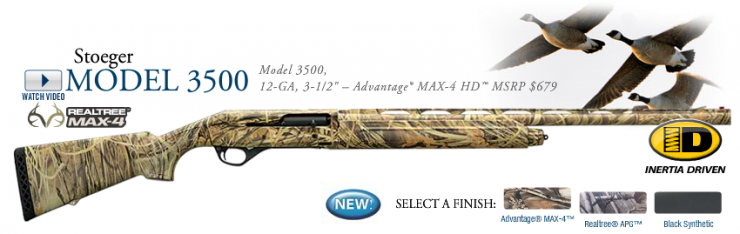 Stoeger's New 3500 Dresses In MAX-4 | Guns and Shooting | Realtree Camo