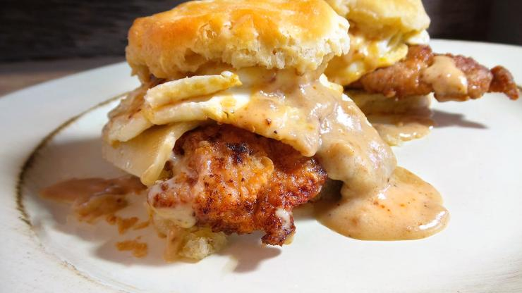 Homemade, frozen or canned, just pick your favorite biscuit and make these Cajun Fried Turkey creations.