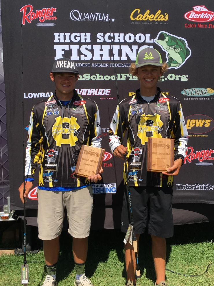 Mason Waddell and Cal Culpper secured second place and scholarship money during the FLW High School National Championships on Lake Pickwick.  Photos by Andy Hagedon and Dawn Culpepper