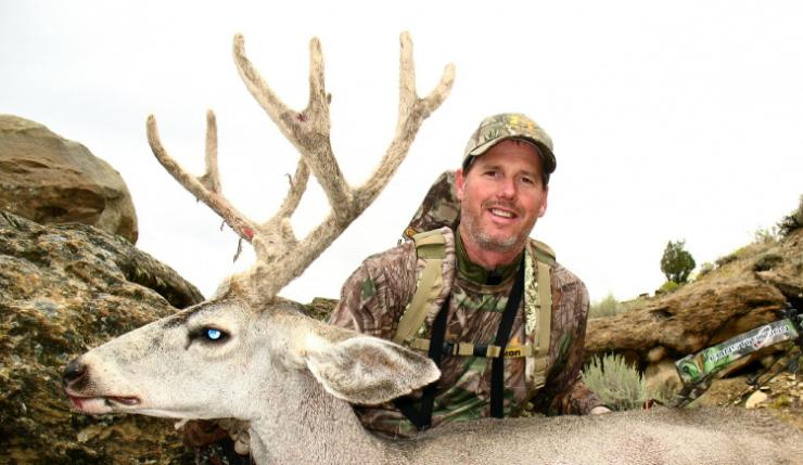The reward of the early season -- a velvet-antlered buck taken after a long and careful stalk. (Patrick Meitin photo)