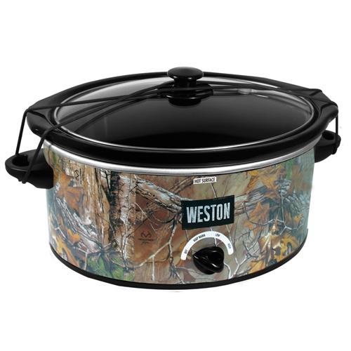 The Weston Realtree slow cooker will have a piping hot meal ready when you come home from your hunt. Photo Credit Weston