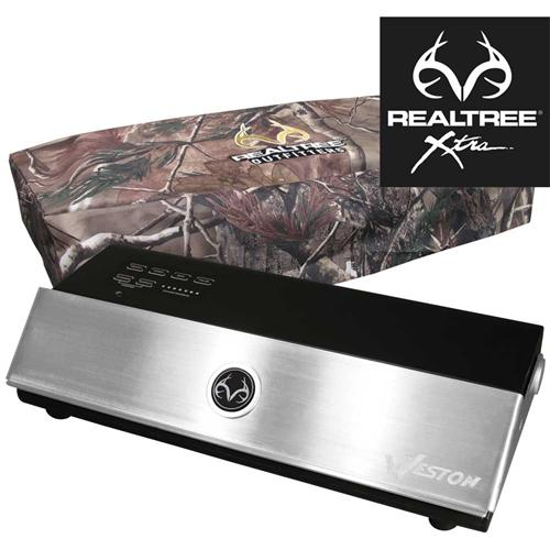 The Weston Realtree Vacuum Sealer will keep your meat fresh for twice as long as paper wrapped game.