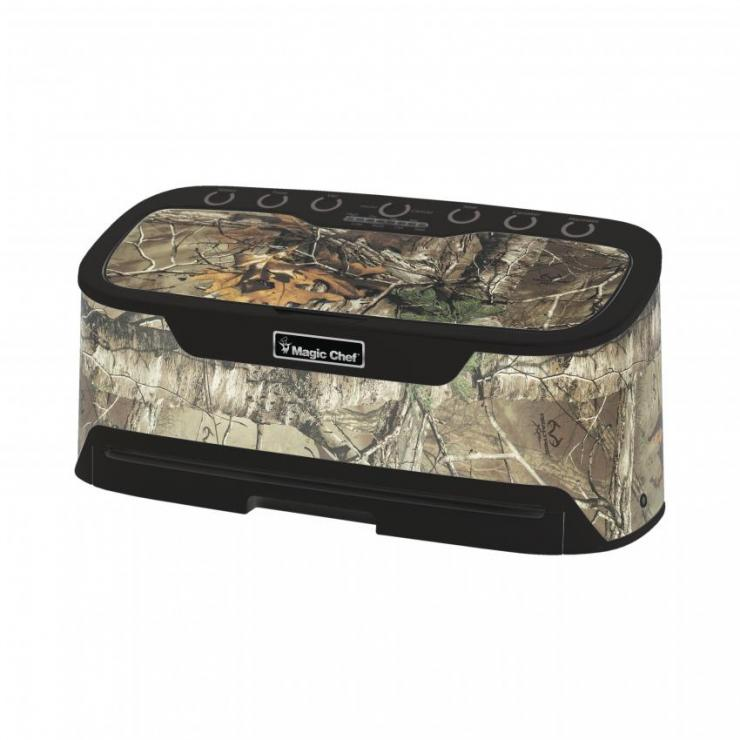 The vacuum sealer is compact and portable, perfect for home or camp.