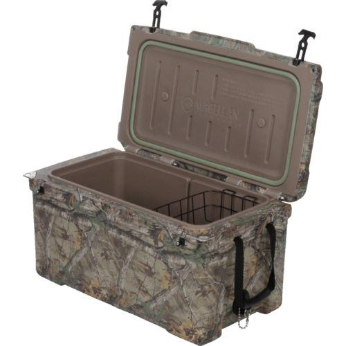 The Magellan line of coolers in Realtree Xtra by Academy are grizzly bear tough and will keep ice for up to 10 days.
