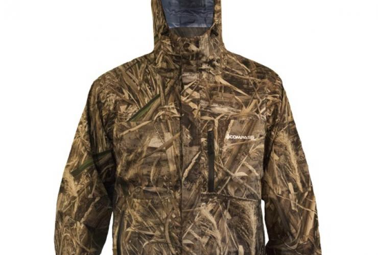 compass 360 gale camo rain jacket in realtree xtra and max 5