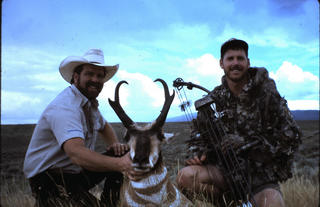 I arrowed this pronghorn during a rainy, tough week in northwestern Colorado while bowhunting with Phil Phillips. (Patrick Meitin photo)