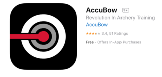 There are other (non-AccuBow) apps that seem to be the right one in the App Store and Google Play, but are actually wrong. The correct one is shown above. (AccuBow photo)