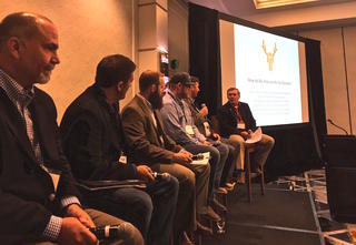 The hunter access panel discussion with Dan Forster, Larry Williams, Kevin Kading, Jake George, Land Tawney and Aaron Bumgarner sparked some great dialogue at the 2017 summit. (Brita Lewis Turbyfill photo)