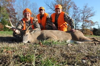 The author filmed his father shoot this buck during the tending phase. (Josh Honeycutt photo)