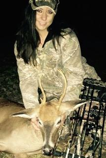 Erica Faulkner poses with another bow kill. (Photo courtesy of Erica Faulkner)
