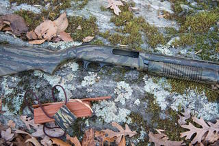 This is the Mossberg 835 in old-school Realtree camouflage. (Dodd Clifton photo)