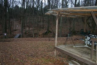 Smotherman's backyard range.