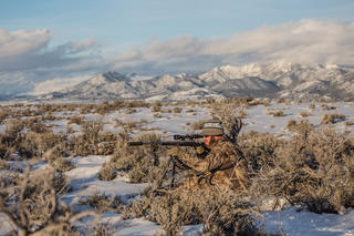 Use good camo to match yourself to the terrain. MAX-1 XT is a great choice for that. (Banded photo)