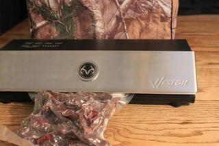 Vacuum sealing is a great way to store jerky in the freezer.