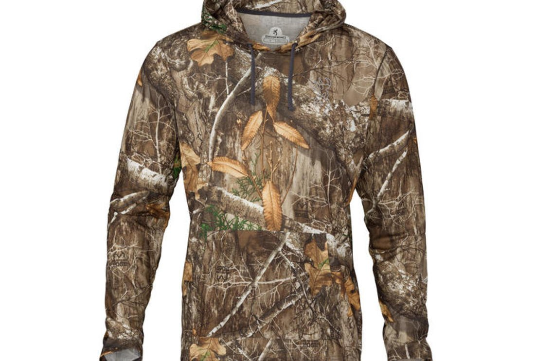 Browning Hipster-vs Hooded T-shirt in Realtree EDGE Camo