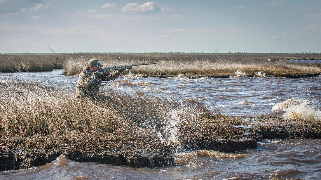Wind almost always helps a waterfowl hunt, but it can also make things tricky. Photo © Bill Konway