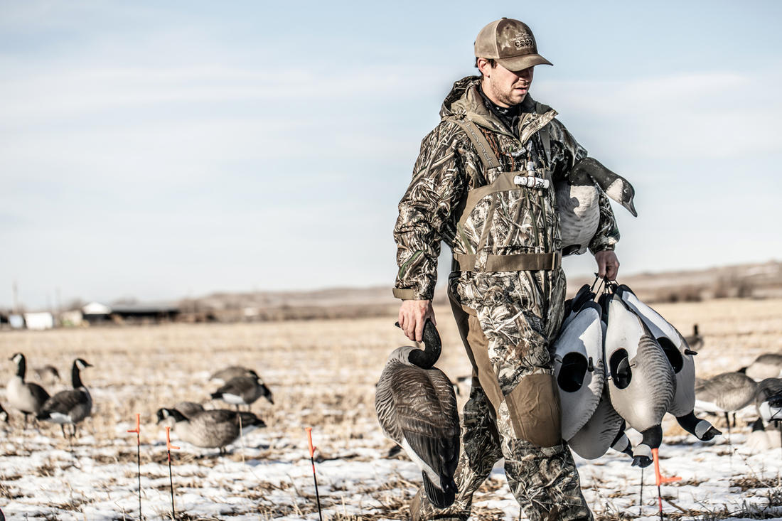 Don't be afraid to switch strategies or reach into your bag of tricks when hunting finicky geese. Photo © Nick Costas