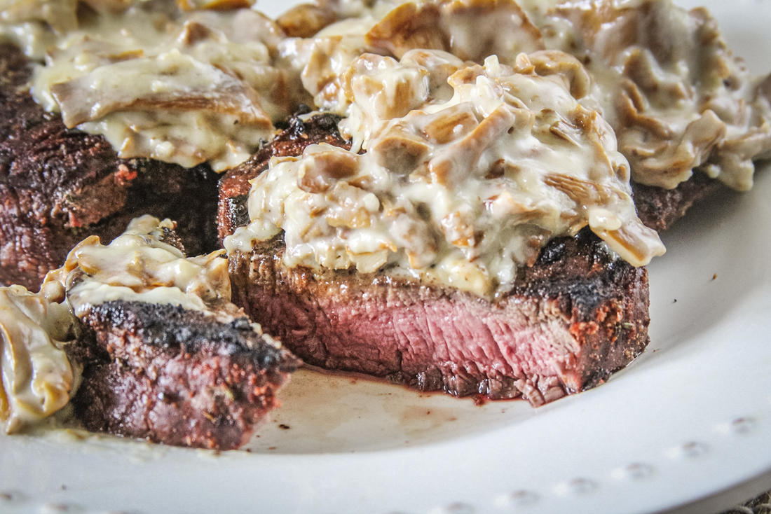 Serve the mushroom sauce over grilled elk backstrap or any grilled meat.