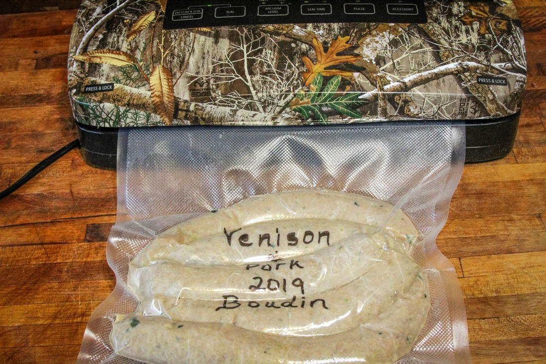 Vacuum seal and freeze leftover boudin.