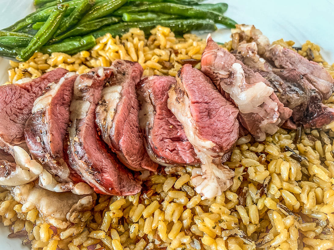 Serve the tenderloin over rice with a vegetable for a side.