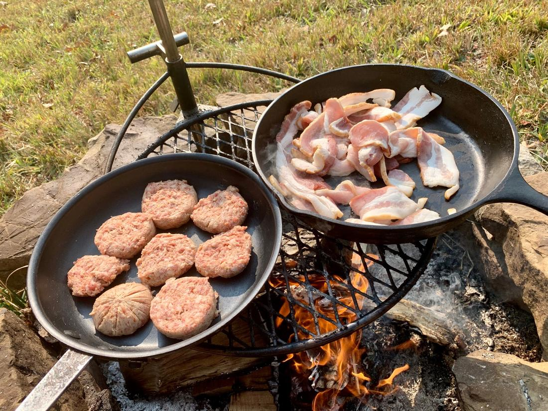Cook a big late-morning breakfast once everyone returns from the morning hunt.