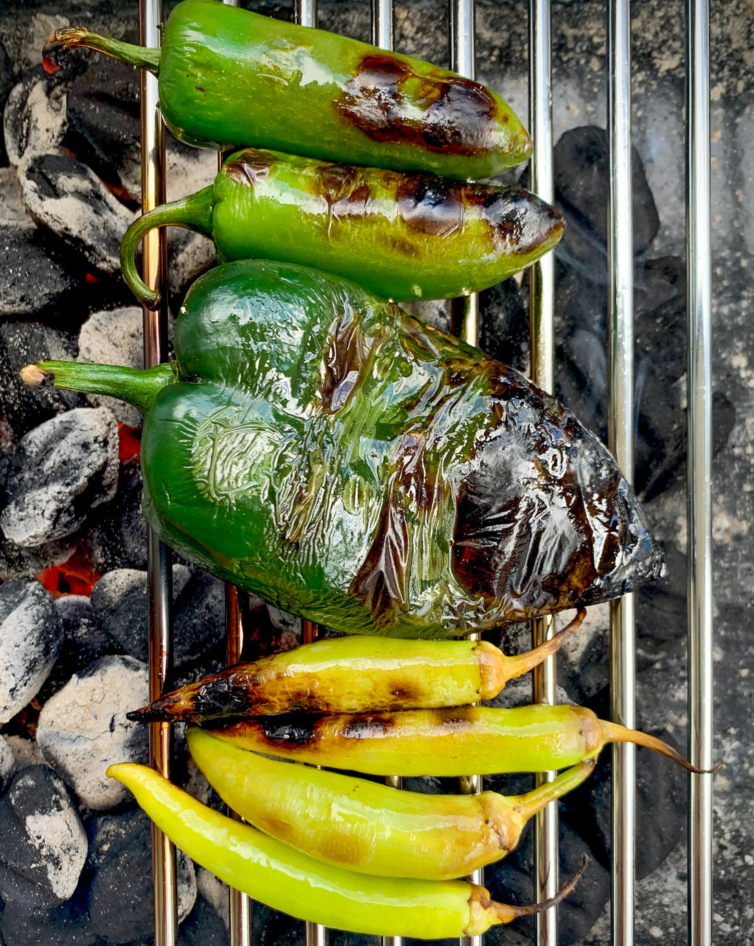 Roast the peppers on the grill. (B. Redfern photo)