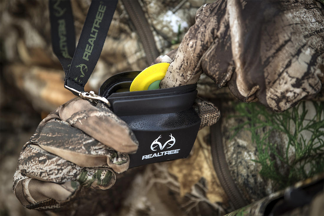 The Call Caddy provides quick access and protection for your mouth calls. ©Bill Konway