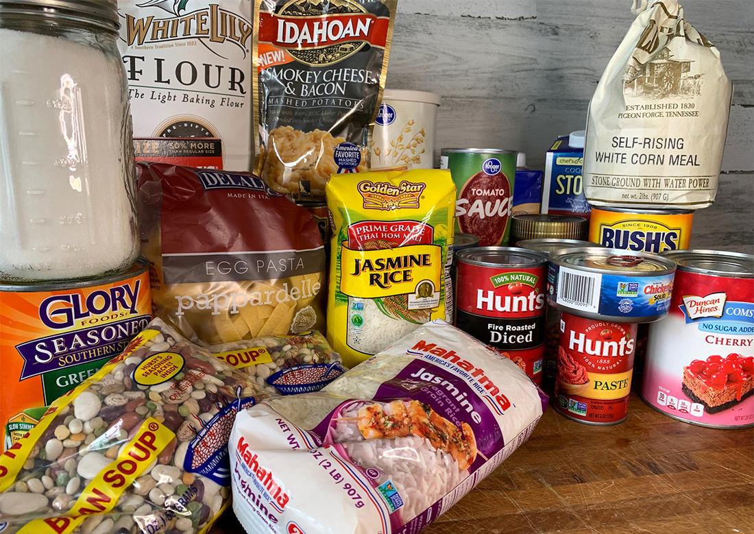 Stock plenty of basic dry and can goods in your pantry so there is always something to eat. ©Pendley photo