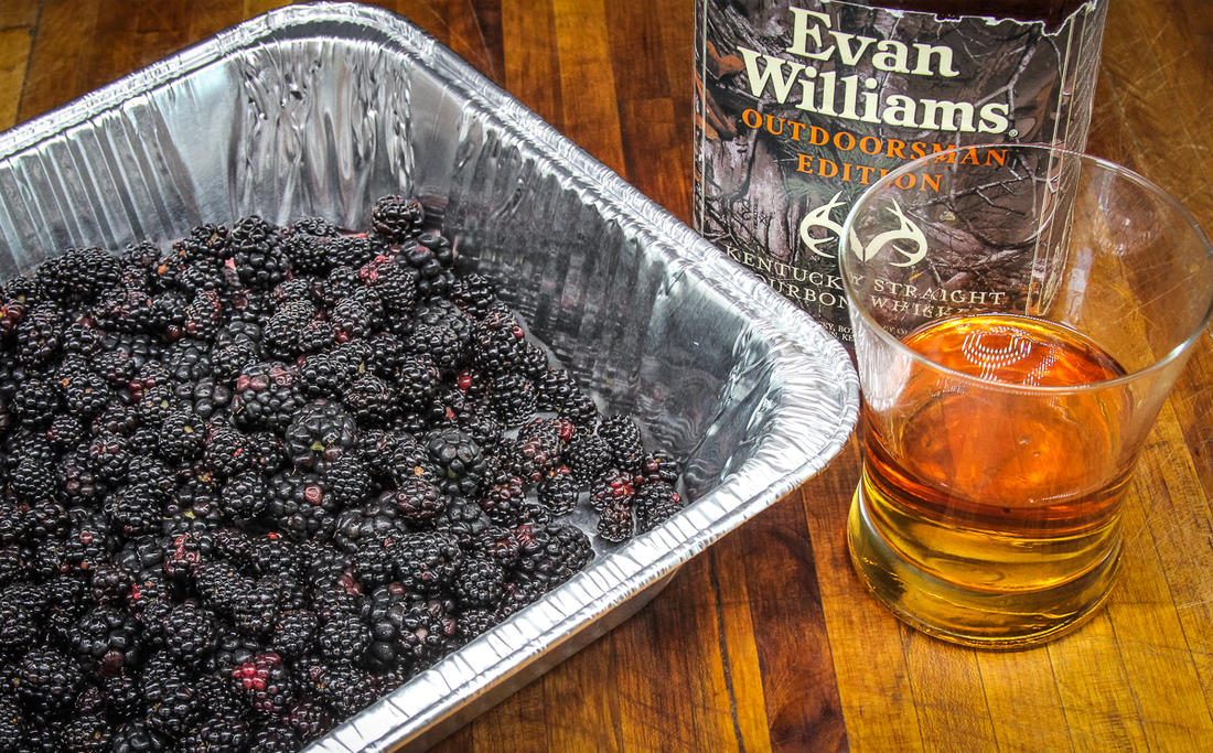 Smoke the blackberries with a splash of bourbon.