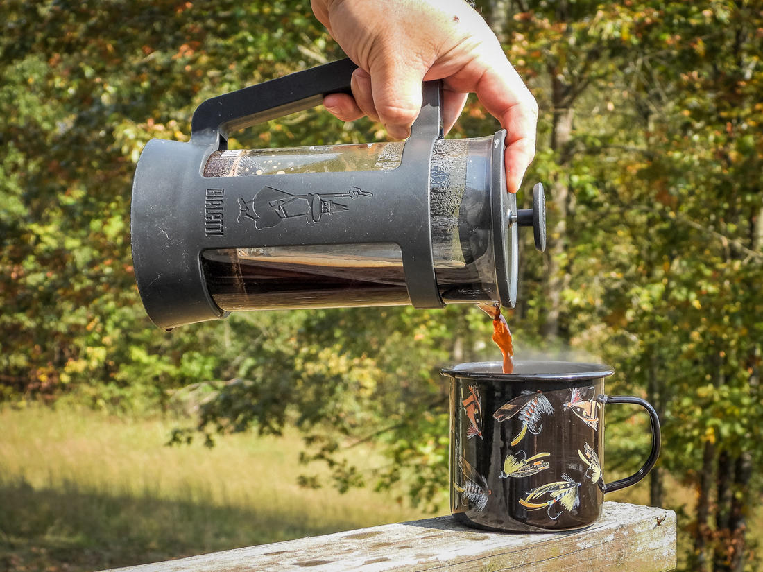 A French press is a great way to brew a few cups of coffee at a time.