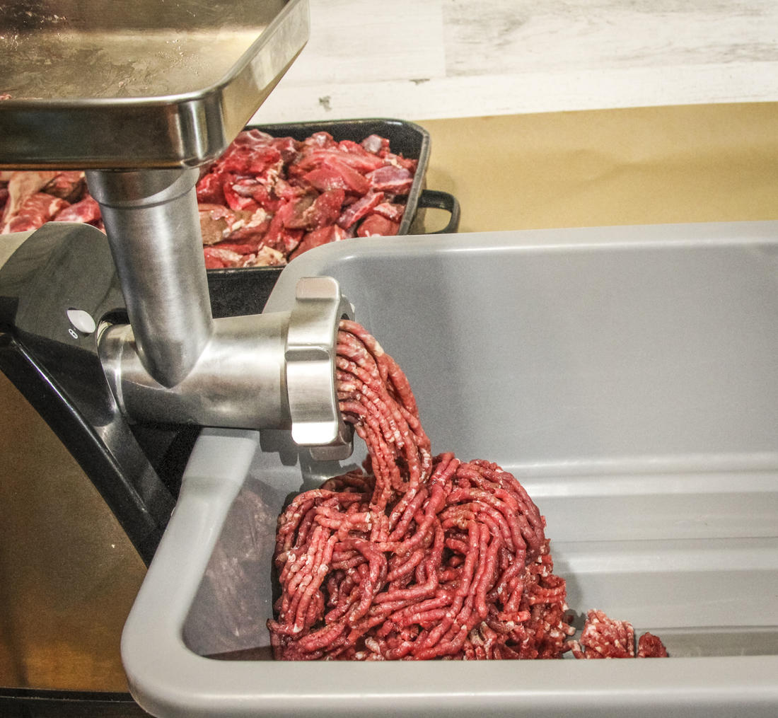 Grind the meat through the medium sized plate before mixing.