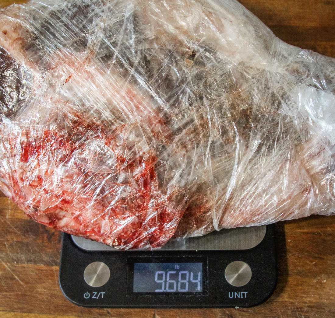 Smaller hams under 10 pounds work best for this recipe.
