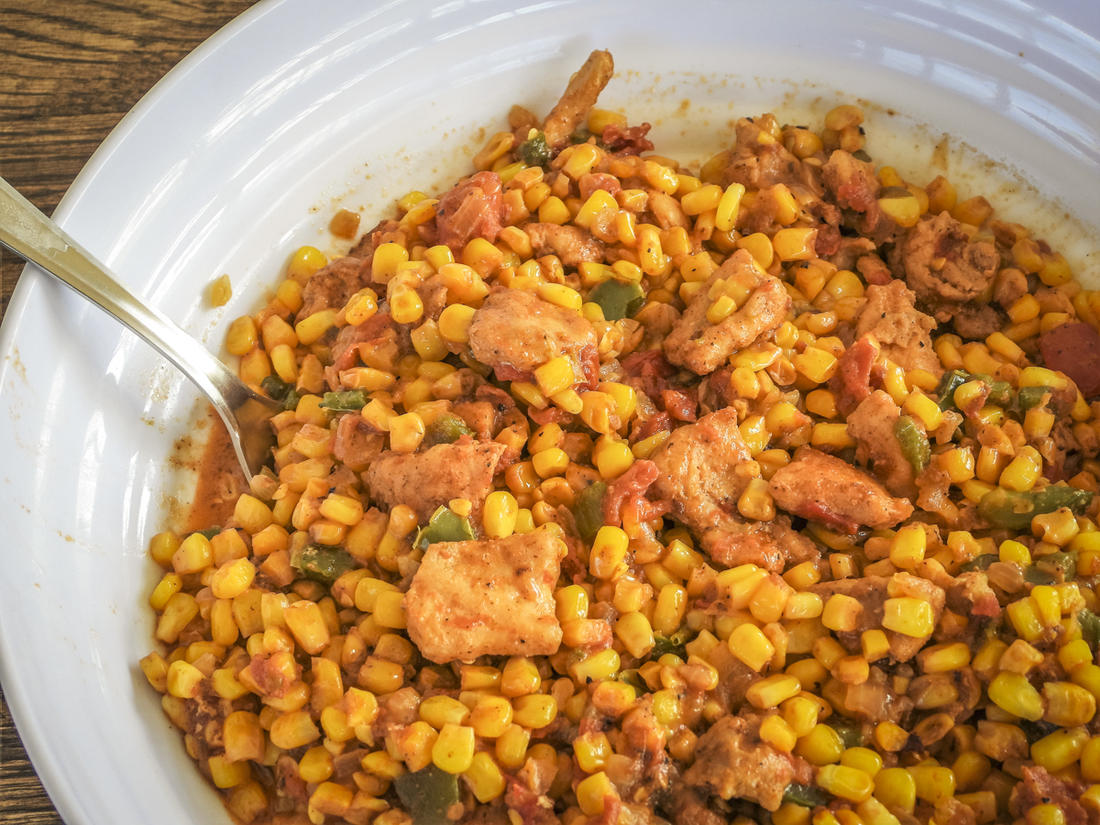 To make this traditional Cajun side into a complete, and tasty, meal, just add gator.