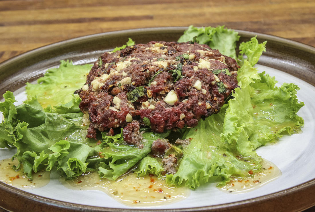 Serve the burger over a bed of dressed lettuce or wrapped in lettuce for an on-the-go meal.