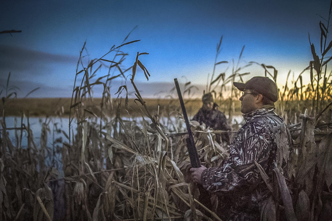 """Cold weather and some """"interesting"""" shooting made the retriever's job tougher this past fall. Photo © Phil Kahnke"""