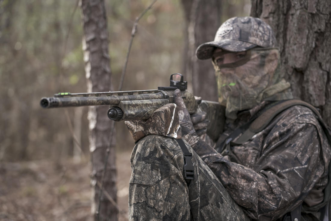 Realtree's Phillip Culpepper, set up on a gobbler. (© Realtree photo)
