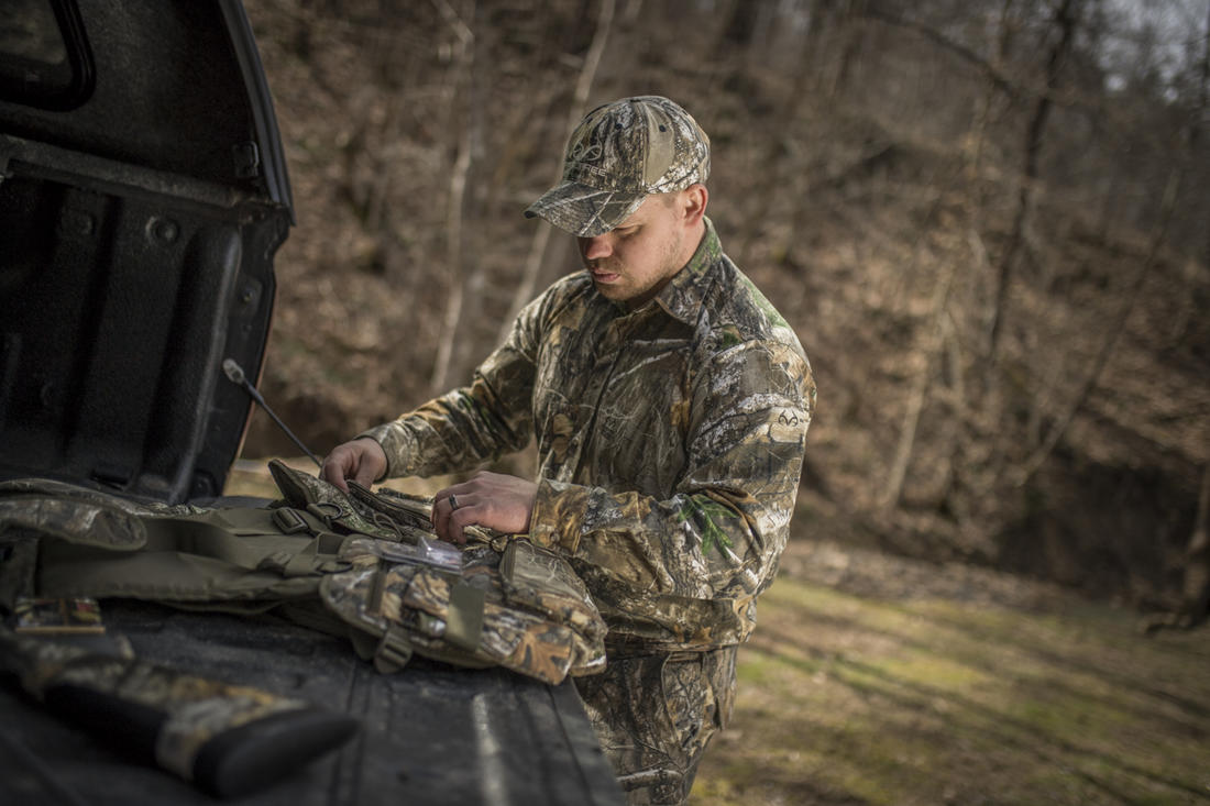 You've found some turkeys and your vest's gear can help kill one. © Bill Konway photo