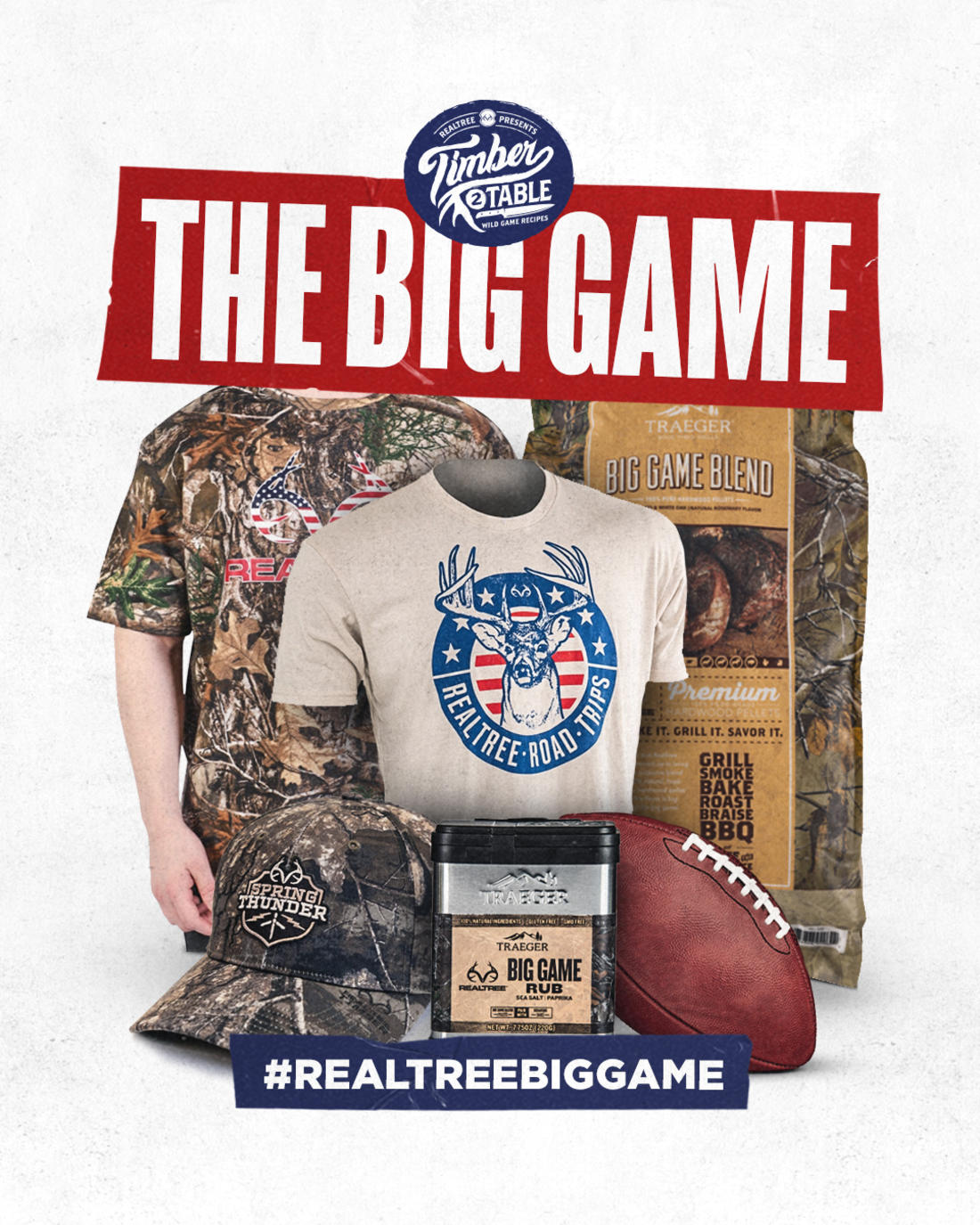 Use #Realtreebiggame when you share your wild game dishes on social media for a chance to win.
