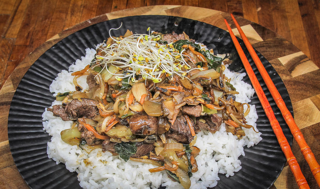 Serve the chop suey over rice.