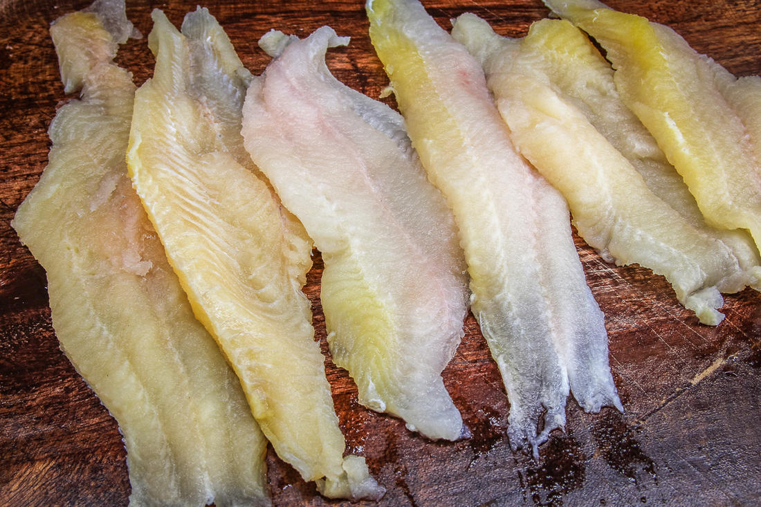 Catfish fillets are perfect for the chowder because they hold up well when cooked.