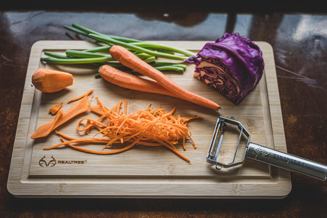 Shred the slaw ingredients. Image by Grit Media