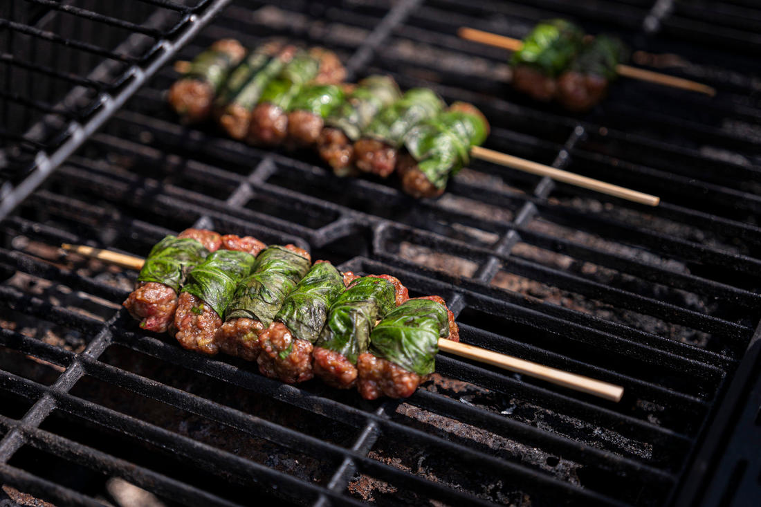 Grill the skewers until the meat is done to your liking. Image by Grit Media