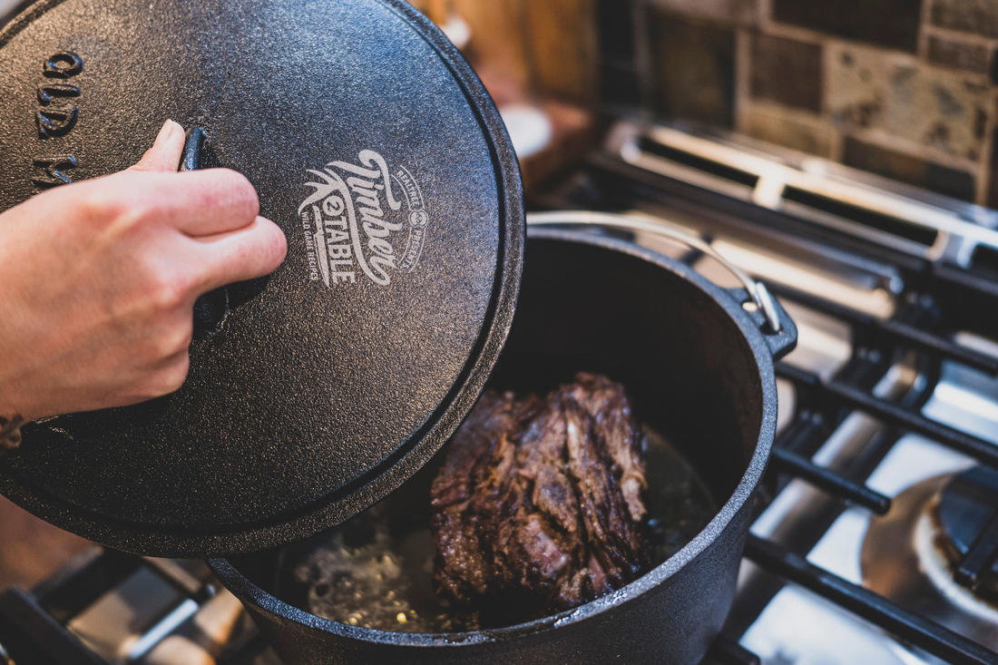 Braise the game meat. Image by Grit Media