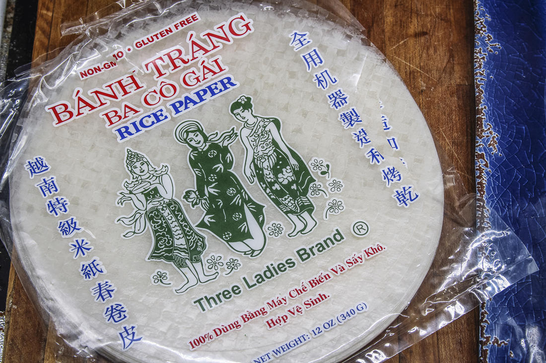 Rice paper wrappers are available at most large grocery stores or online.