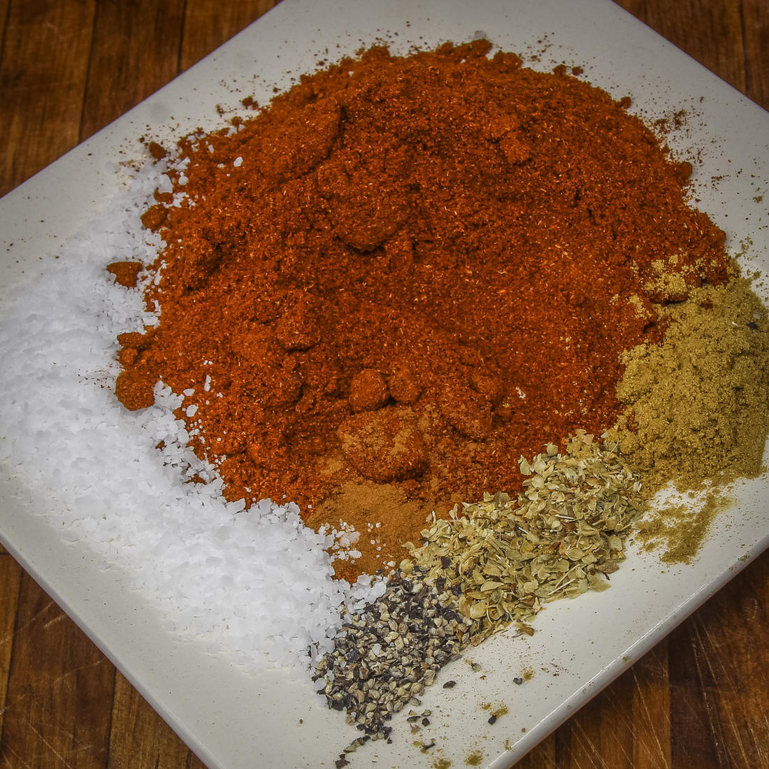 Measure the spices and seasonings.