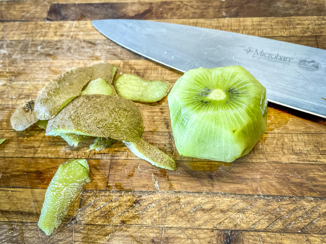 Kiwi both adds sweetness to the marinade and helps to tenderize the meat.