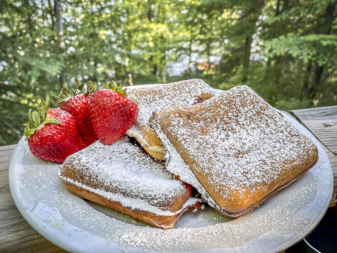 For a bit of extra sweetness, dust the warm pies with powdered sugar or drizzle on some honey.